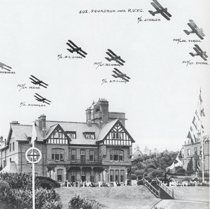 502 squadron, late 1930's flying over the Royal Ulster Yacht Club.jpg